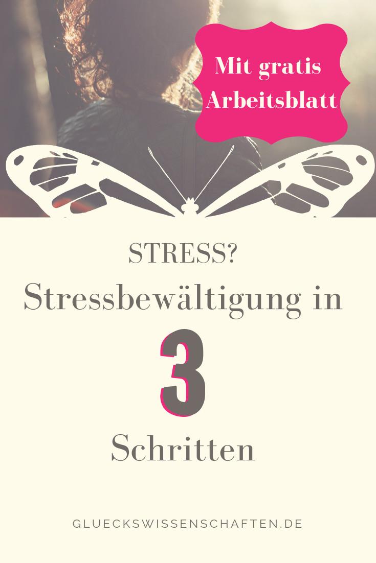 in 3 Schritten aus dem Stress -arbeitsblatt
