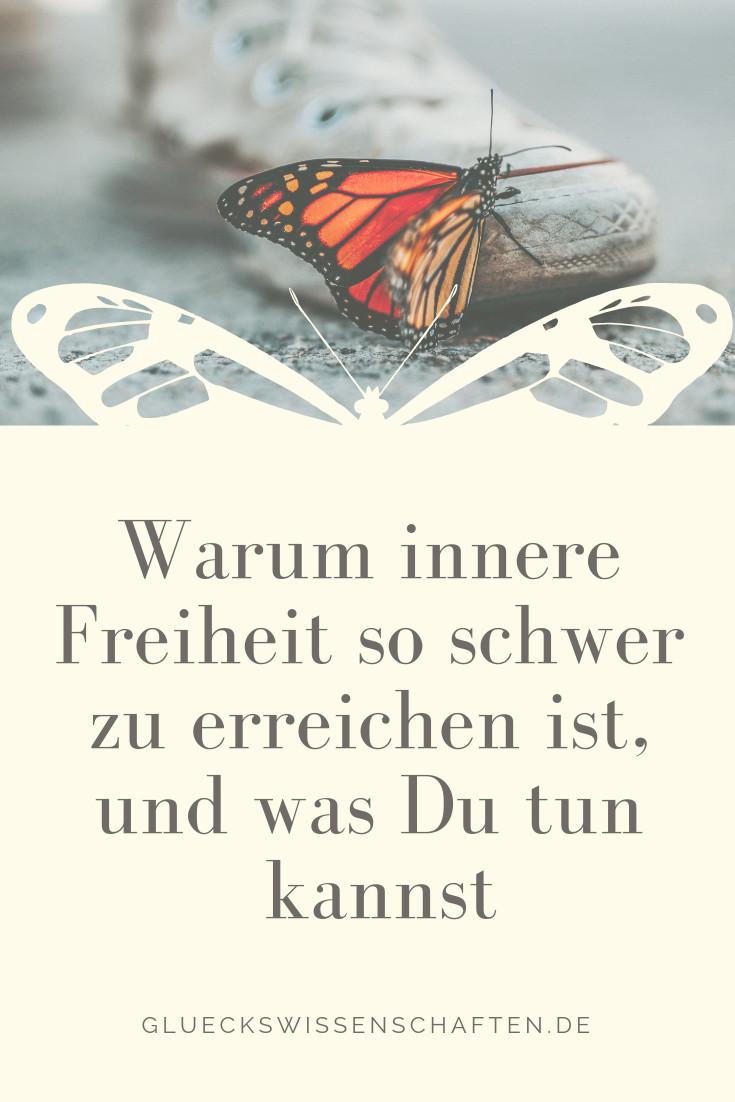 wie erreichst Du innere Freiheit Schmetterling