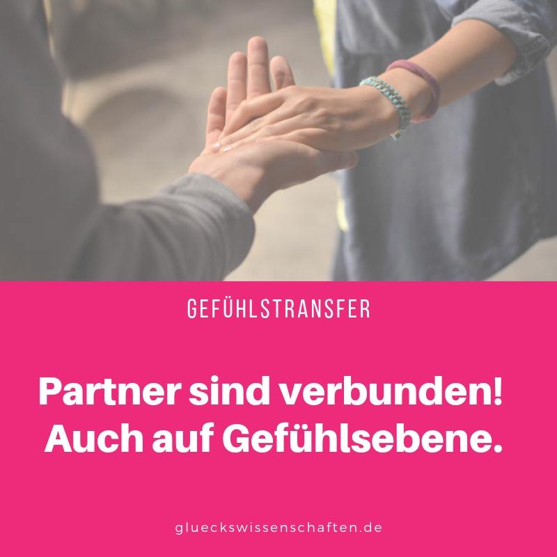 Partner sind verbunden. Auch auf Gefühlsebene.