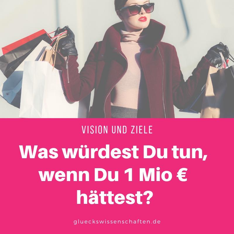 Was würdest Du tun, wenn Du 1 Mio € hättest
