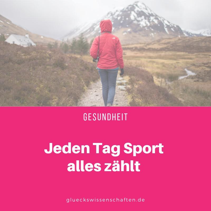 Jeden Tag Sport alles zählt