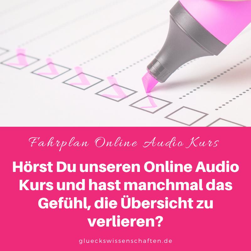 Glückswissenschaften - Glücklich abnehmen - Hörst Du unseren Online Audio Kurs