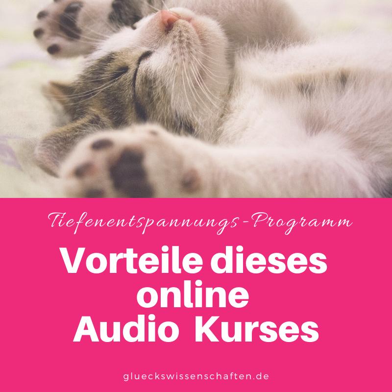 Glückswissenschaften - Tiefenentspannungs-Programm - Vorteile dieses online Audio Kurses