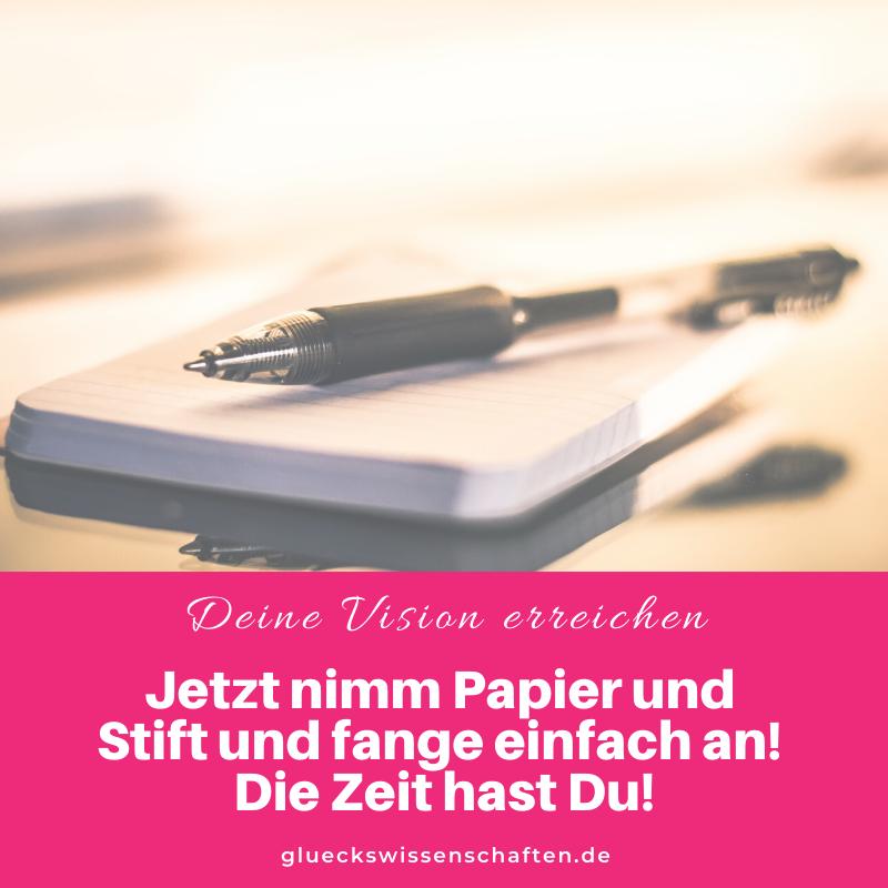 Glückswissenschaften - Glückswissenschaften - Jetzt nimm Papier und Stift und fange einfach an