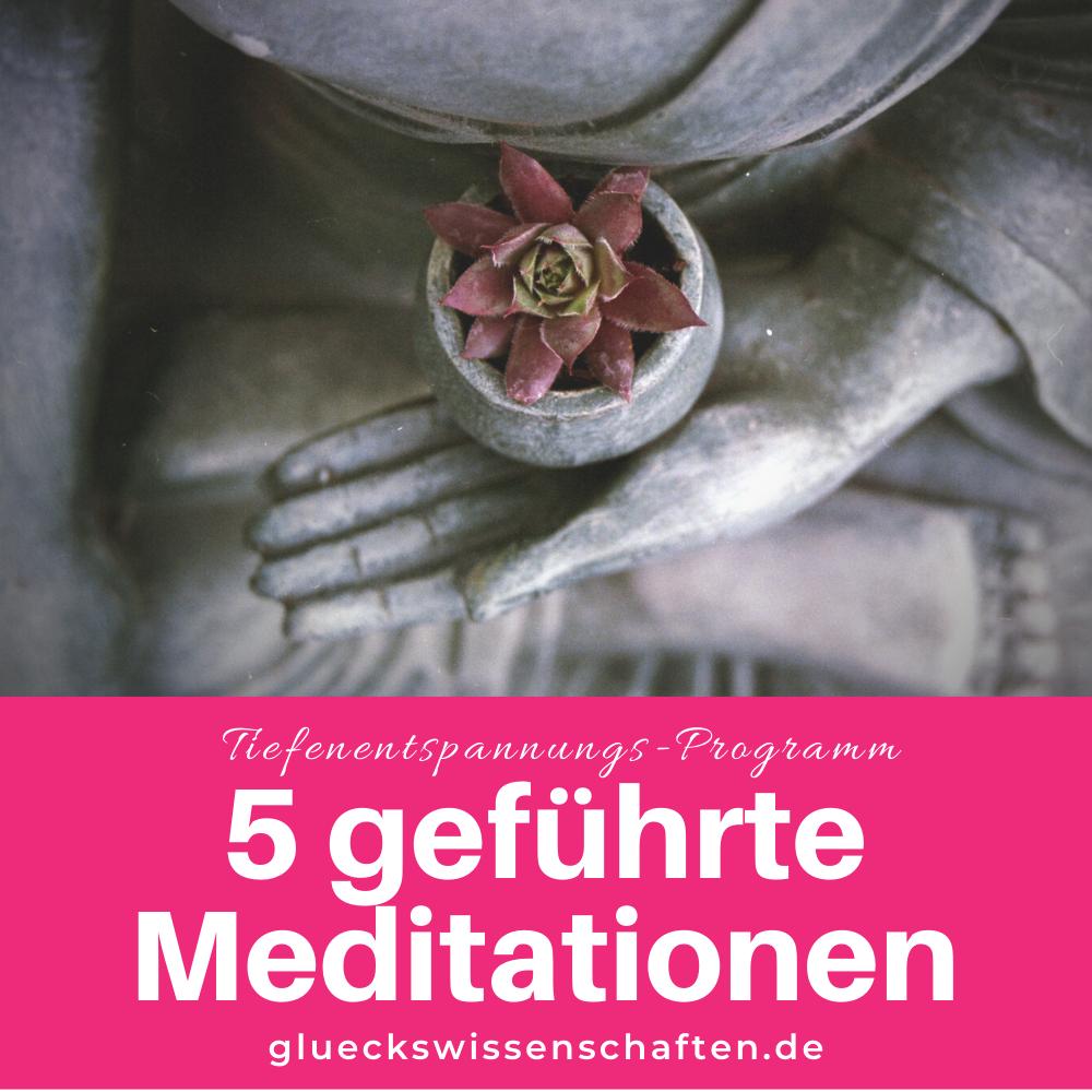 Glückswissenschaften - Tiefentspannungs-Programm - 5 geführte Meditationen