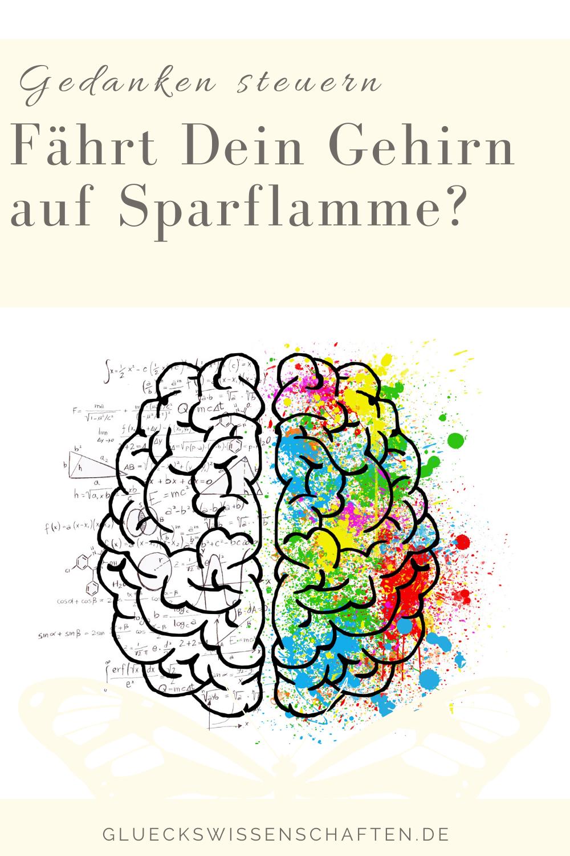 Glückswissenschaften - Gedanken steuern - Fährt Dein Gehirn auf Sparflamme?