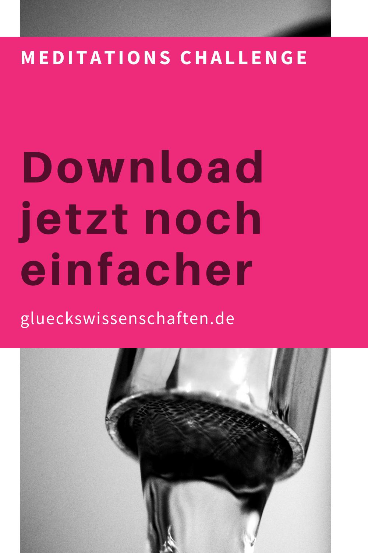 Glueckswissenschaften- Meditations Challenge-Download jetzt noch einfacher