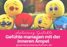 Glückswissenschaften - Anleitung Gefühle - Gefühle managen mit der inneren Ampel