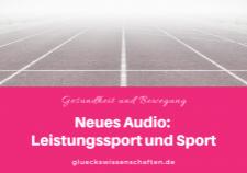 Neues Audio- Leistungssport und Sport